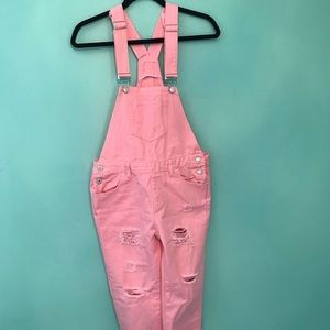 Denim - Light pink overalls small